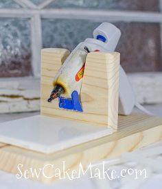 Hot Glue Gun Stand by TheBubbleBox on Etsy, $5.00