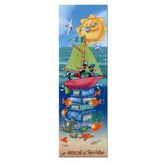 Segnalibro in carta FV01-03   Le Formiche di Fabio Vettori #segnalibro #book #libro #formiche #gift #leggere #mare #barca #fantasia #estate