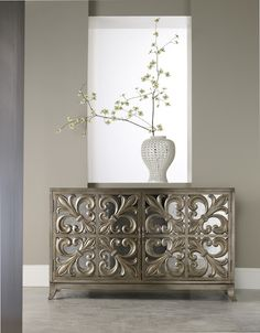 Fleur di Lis - so pretty combined with mirror!  Hooker Furniture