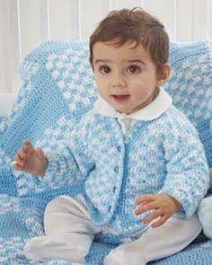Free Crochet Pattern for Cardigan-Free baby Crochet Patterns