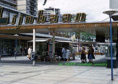 Vintage Kodachrome Slide 1950s Netherlands Holland Rotterdam Lijnbaan Shops