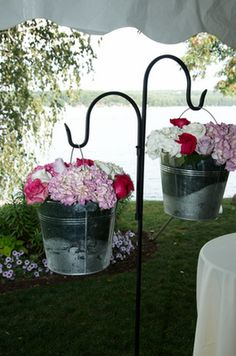 Shepherd Hooks Mason Jars | Cheap Find: Lanterns and Shepherds Hooks : wedding ceremony decor ...