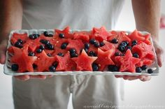 Make your watermelon patriotic | How To Host An Amazing Olympics Party