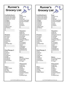 These Two Printable BlackAndWhite Grocery Lists Have Two