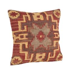 Dress up any room in contemporary style with this decorative pillow. This filled kilim design pillow is available in a vibrant multicolor. Add a touch of lively, Southwestern design to your bedroom, o