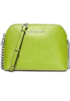 Michael Kors Cindy Large Dome Leather Crossbody Pear Mich-$239.00