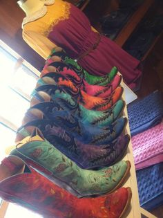 Lucchese Cowgirl Boots at RiverTrail in North Carolina. #cowgirlboots #colorful #leather #lucchese