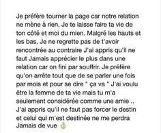 French Words, French Quotes, Citations Couple, Love Quotes, Inspirational Quotes, My Diary, Bad Mood, More Than Words, True Stories