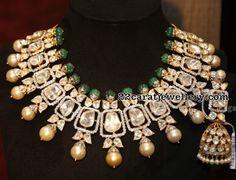 Luxurious Flat Diamond Set Jhumkas