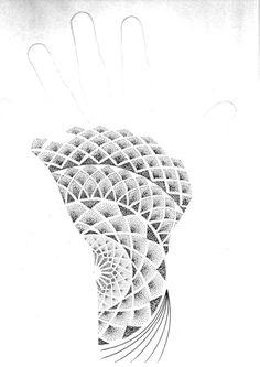 Another hand 2 by JonToogood Geometric Pattern Tattoo, Geometric Tattoo Hand, Geometric Tattoos Men, Tattoo Triangle, Triangle Pattern, Tattoo Circle, Dot Tattoos, Dot Work Tattoo, Hand Tattoos
