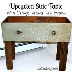 Do you have an old drawer and some spare wood? This project took me under 30 minutes and I got to save old things from destruction by making it! Find out how you can make a coffee table that will make your friends uber jealous.