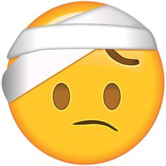 Got a bad headache or did you get hurt in an accident? This emoji is all bandaged up and recovering just like you.