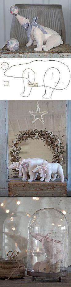 белый медведь тильда выкройка с рисунками в полный размер | тильда мастер (тильдамастер)