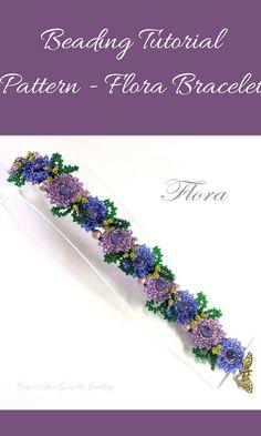 PDF beading tutorial pattern - Flora bracelet #etsyseller #ad