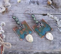 Hey, I found this really awesome Etsy listing at https://www.etsy.com/listing/225035164/earrings-copper-metalwork-natural