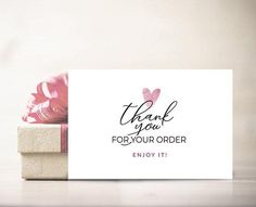 Thank you card Thank you for your order tag Thank you for purchase Printable pdf Small online business Package insert Etsy Seller Packaging Etsy Business, Online Business, Business Ideas, Gift Wrapping Techniques, Purchase Card, Business Thank You Cards, Thank You For Purchasing, Thank You For Order, Thanks Card