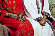 Sudanese bride and groom (traditional dress)