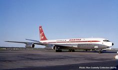 QANTAS Boeing 707-138 (VH-EAA) Boeing 707, Boeing Aircraft, Illinois, Australian Airlines, Brisbane Airport, Airplane Photography, Best Airlines, Air New Zealand, Aviation