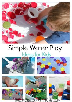 Simple Water Play Ideas for Kids. Fun and easy water bin and water table activity ideas for the kids.