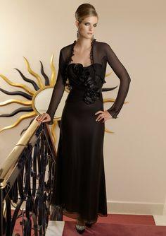Long Black Mother Of The Bride Dresses
