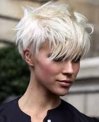 Image result for white hair pixie cut