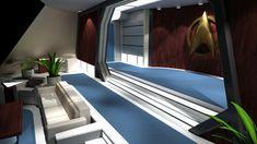 Spaceship Interior, Star Trek Starships, Computer Art, Rooms, Interiors, 3d, Bedrooms, Decoration Home, Decor