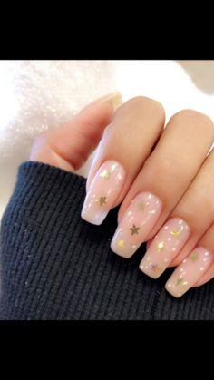 40 Cute Star Nail Art Designs For Women 2019 - Page 17 of 40 Nail Desing cute nail designs Dream Nails, Love Nails, Pretty Nails, Acrylic Nails Natural, Cute Acrylic Nails, Cute Nail Art, Star Nail Art, Star Nails, Star Art