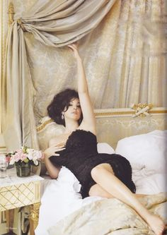 Monica Bellucci  yes please - inspiration for bedroom - hopefully i can re-do my bedroom in next 6 months!