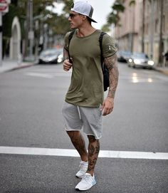 Men's Summer fashion sporty outfit inspiration. - Men's Summer fashion sporty outfit inspiration. Source by jleconteberlin - Summer Outfits Men, Sporty Outfits, Athletic Outfits, Mode Outfits, Summer Men, Men Summer Fashion, Winter Outfits, Summer Ideas, Mens Athletic Fashion