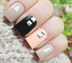 Studs...  #nails #nailart #nailpolish