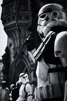 Storm Trooper black and white