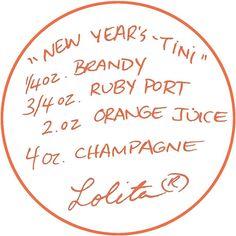 Lolita® New Year's-tini Recipe
