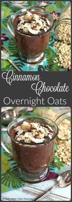 Cinnamon Chocolate Overnight Oats. The ultimate fast breakfast. Perfect for back to school! @wholefoodrealfa
