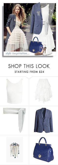 """""""What's Your Power Look?"""" by breathing-style ❤ liked on Polyvore featuring Sans Souci, IRO, Sonia Rykiel, Versace and Dorothy Perkins"""