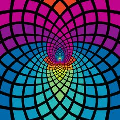 Psychedelic Aesthetic: You dont need to try a psychedelic to appreciate this awesome list of trippy visuals, optical illusions, & More! Optical Illusion Gif, Cool Optical Illusions, Illusion Art, Trippy Visuals, Psychadelic Art, Pop Art Wallpaper, Psy Art, Geometry Art, Visionary Art