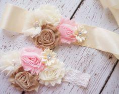 Bridal Burlap Wedding sash Wedding sashes and by PoshPeanutKids