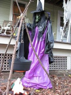 Scary witch for Halloween - instructions here