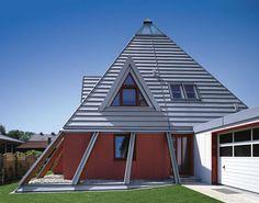#Zeltdach mit Gaube aus #Titanzink.