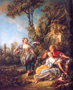 Lovers in a Park ~ Francois Boucher 1758 Located at: Timken Museum of Art, San Diego California