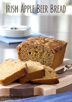 Apple Beer Bread for St. Pattys Day | ASpicyPerspective.com #irish #stpattysday #saintpatricksday