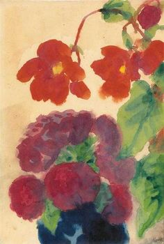 NOLDE, EMIL - Blumen, 1925, Aquarell