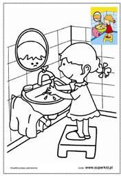 kolorowanka myję ręce