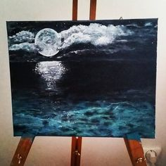 "Acrylic ""Moonshine"" Follow me on instagram: malinlarssonart"