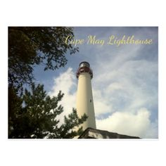 Cape May Point Lighthouse State Park NJ Postcard - light gifts template style unique special diy