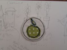 Brooch Badge: Apple textile £4.50