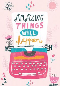 Illustration and Print Design Happy Quotes, Positive Quotes, Greeting Card Companies, Hand Lettering Quotes, Cute Clipart, Milk And Honey, Sweet Words, Grafik Design, Happy Thoughts