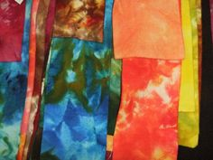 Ice dyed wool by Val Gavin of Renditions in Rags