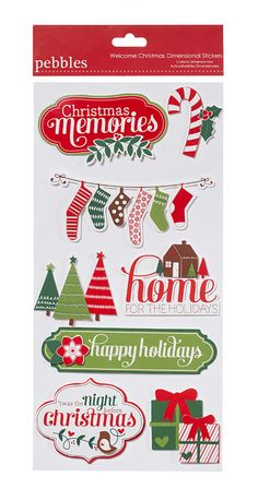 pebbles wecome christmas stickers