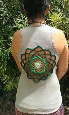 Crochet Mandala Top by RecycleTown on Etsy