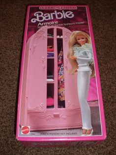 $100 for this, really? It is nice though. : Barbie Sweet Roses Armoire House 4763 1987 Furniture Vintage Dresser Bedroom | eBay